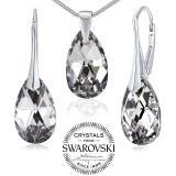 SILVEGO st��brn� set se Swarovski® Crystals kapka Argent