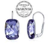 SILVEGO st��brn� n�u�nice se Swarovski® Crystals tanzanite