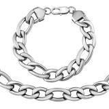 Masivní set náramku a náhrdelníku FIGARO 11 mm