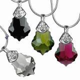SILVEGO stшнbrnэ pшнvмsek Baroque 22mm se Swarovski(R) Crystals