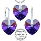 Silvego set �perk� Heliotrop se Swarovski® Crystals