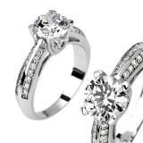 SILVEGO st��brn� prsten PROELIO se Swarovski(R) Crystals