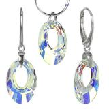 St��brn� set Helios 20mm Crystal AB se Swarovski Elements