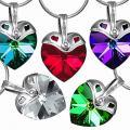 SILVEGO st��brn� p��v�sek Srdce 6202 se Swarovski(R) Crystals