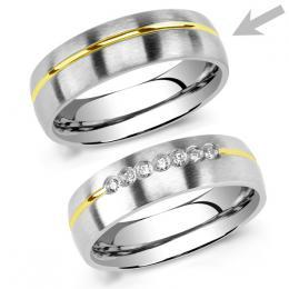 Snubnн ocelovэ prsten pro muћe PARIS