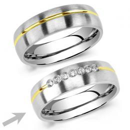 Snubn� ocelov� prsten pro �eny PARIS