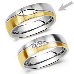 Ocelov� snubn� prsten pro mu�e LE BLANC
