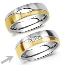 Ocelovэ snubnн prsten pro ћeny LE BLANC