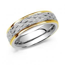L´AMOUR snubní prsten pro muže a ženy z chirurgické oceli