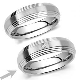 L�AMOUR prsten snubn� pro �eny z chirugick� oceli