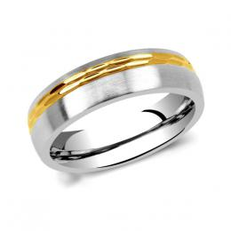 LґAMOUR snubnн ocelovэ prsten pro muћe a ћeny
