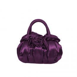 Slavnostn� kabelka NARAYA sat�n purpurov�