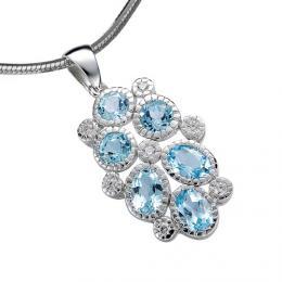 Luxusn� �perk s modr�m Topazem  - zv�t�it obr�zek