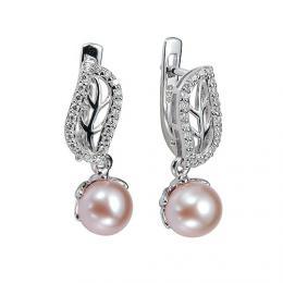 St��brn� n�u�nice zdoben� perlou a k�i���lem