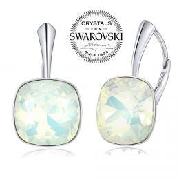 SILVEGO st��brn� n�u�nice se Swarovski(R) Crystals b�l�m op�lem 12mm