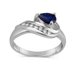 St��brn� prsten VALERIA se Saf�rem