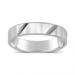 St��brn� snubn� prsten 4mm pro mu�e i �eny