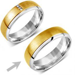 Snubn� ocelov� prsten pro mu�e VIENNE - zv�t�it obr�zek
