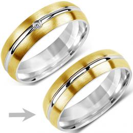 Ocelov� prsten snubn� pro mu�e VERNON