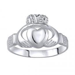 D�msk� celost��brn� prsten CLADDAGH