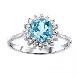 GIO CARATTI prsten ze stшнbra s Topazem