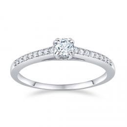 SILVEGO støíbrný prsten ATHENAIS se Swarovski® Zirconia