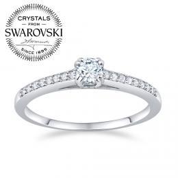 SILVEGO st��brn� prsten ATHENAIS se Swarovski(R) Crystals