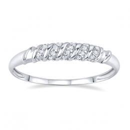 St��brn� prsten se zirkony CLARICE