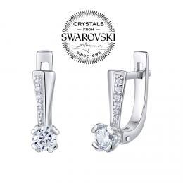 SILVEGO stшнbrnй nбuљnice ZARITA  se Swarovski(R) Crystals