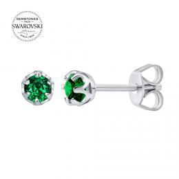 St��brn� n�u�nice pecky SILVEGO s p��rodn�m zelen�m topazem Swarovski Gemstones
