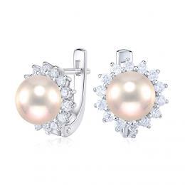 St��brn� n�u�nice s p��rodn� perlou v pudrov� barv�