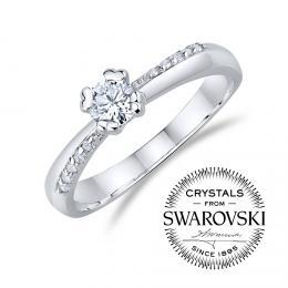 SILVEGO z�snubn� st��brn� prsten se Swarovski(R)Crystals