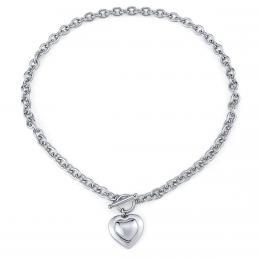 Náhrdelník srdce z chirurgické oceli 50 cm