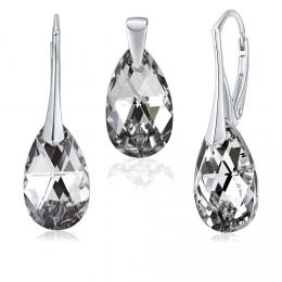 SILVEGO støíbrný set se Swarovski® Crystals kapka Argent