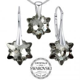 Silvego st��brn� set �perk� se Swarovski(R) Crystals Edelweiss