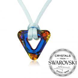 SILVEGO n�hrdeln�k se Swarovski(R) Crystals Triangle Volcano
