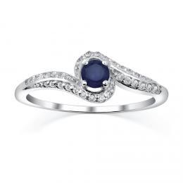 St��brn� prsten IDONEA s p��rodn�m saf�rem