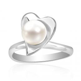 Stшнbrnэ prsten s pшнrodnн perlou MAIA