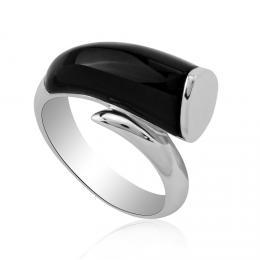Extravagantnн Stшнbrnэ prsten s Onyxem