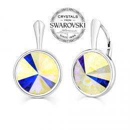 SILVEGO stшнbrnй nбuљnice se Swarovski® Crystals rivoli 12mm AB