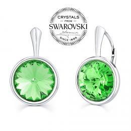 SILVEGO stшнbrnй nбuљnice se Swarovski(R) Crystals zelenэm rivoli 12mm