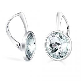 SILVEGO støíbrné náušnice se Swarovski® Crystals rivoli 12mm èiré