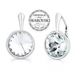 SILVEGO stшнbrnй nбuљnice se Swarovski(R) Crystals rivoli 12mm иirй