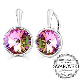 SILVEGO stшнbrnй nбuљnice se Swarovski(R) Crystals vitrail light 12mm