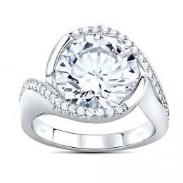 SILVEGO st��brn� prsten EXTRAVAGANZA se Swarovski(R) Crystals