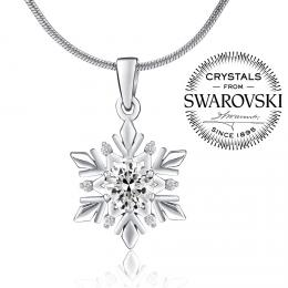 SILVEGO stшнbrnэ pшнvмsek snмhovб vloиka se Swarovski(R) Crystals