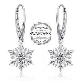 SILVEGO st��brn� n�u�nice sn�hov� vlo�ka se Swarovski(R) Crystals