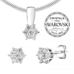 SILVEGO st��brn� set �perk� se Swarovski® Crystals