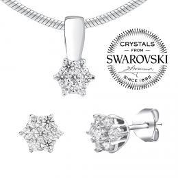SILVEGO stшнbrnэ set љperkщ se Swarovski(R) Crystals
