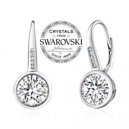SILVEGO st��brn� n�u�nice se Swarovski(R) Crystals